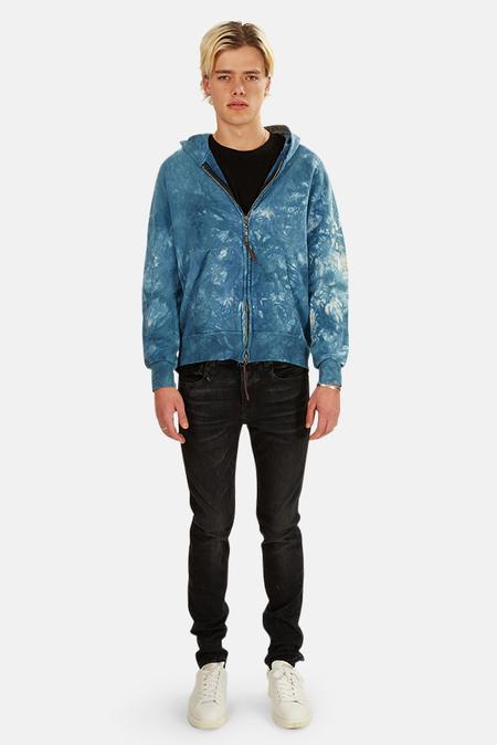 Remi Relief Zip Hoodie Sweater - Dark Indigo