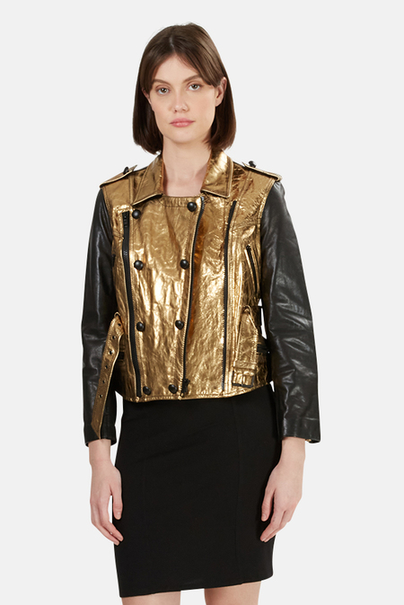 3.1 Phillip Lim Leather Jacket - Gold