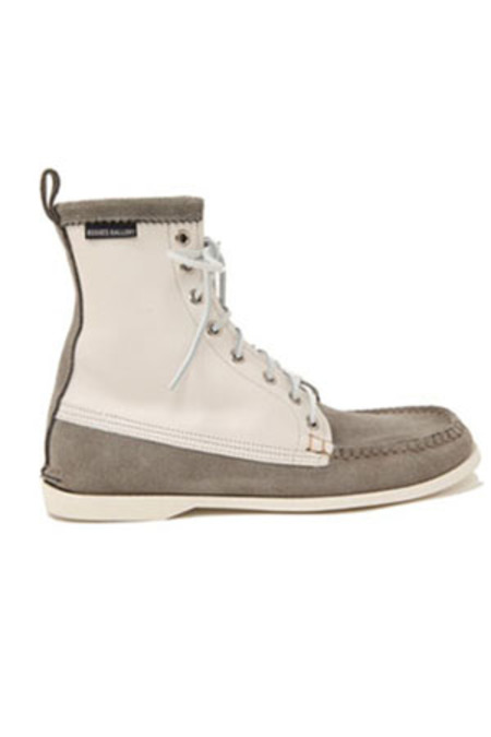 Rogues Gallery Suede Leather Deck Boot - Grey/Cream