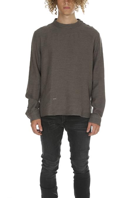 Robert Geller Crewneck Shirt Sweater - Grey