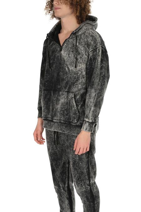 Robert Geller Acid Wash Hoodie Sweater - Acid Wash Black