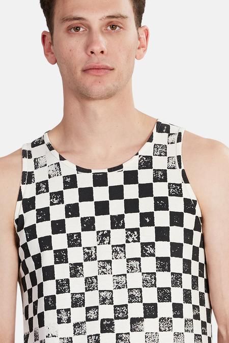 Jungmaven Checkerboard Tank Top - Black Checkerboard
