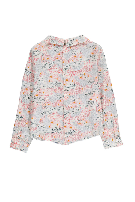 Kids Hundred Pieces Mountains Blouse - Heather White