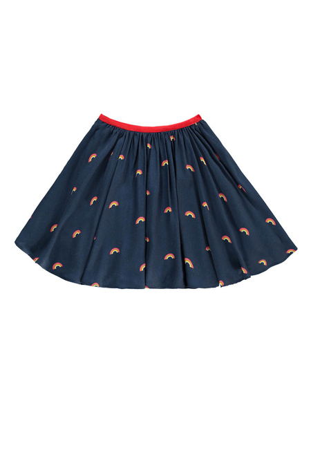 Hundred Pieces Rainbow Skirt - Navy