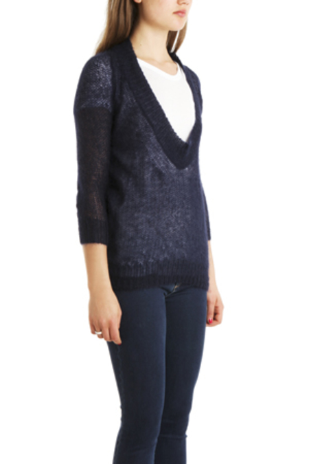 VPL Low O Sweater - Midnight Navy Blue