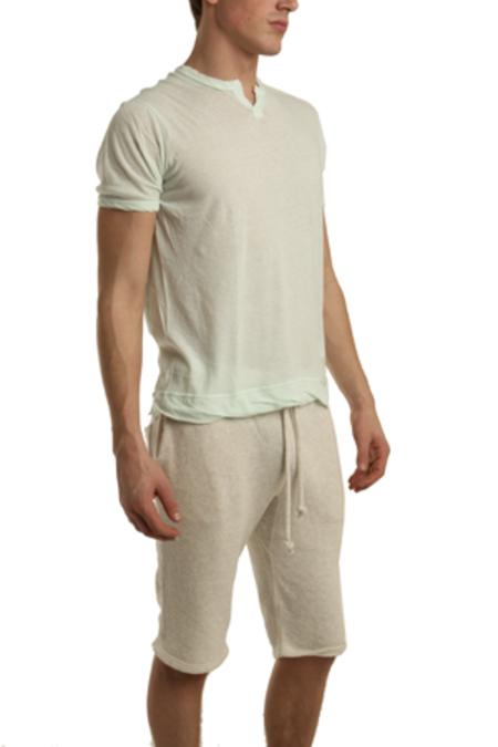 V :: ROOM Slit Neck T-Shirt - mint