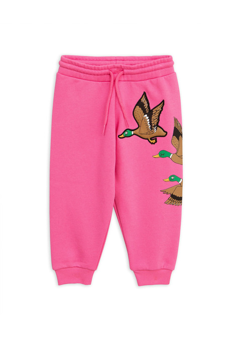 Kids Mini Rodini Wild Duck Sweatpant - Cerise
