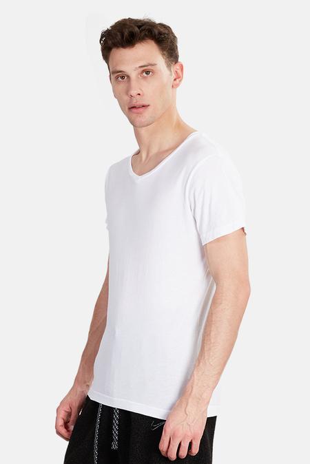 Jacks and Jokers V Neck T-Shirt - White