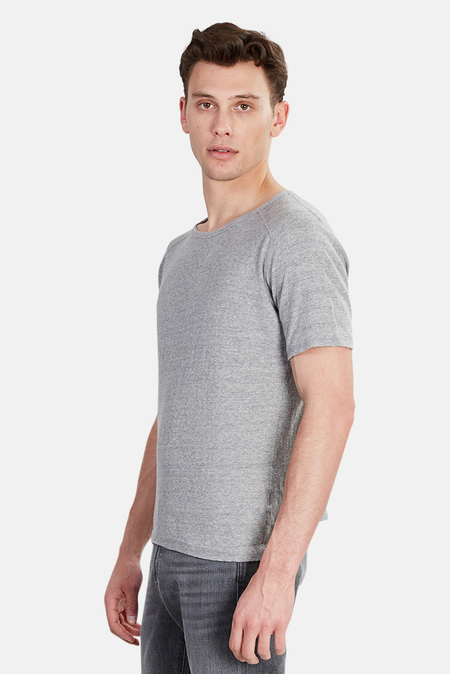 V::ROOM Basic Crew T-Shirt - heather grey