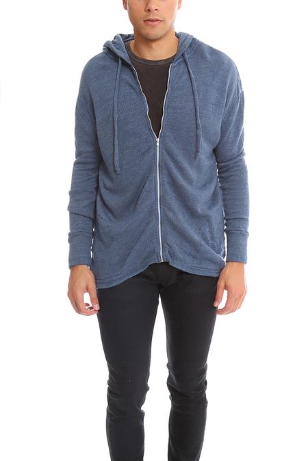 V::Room High Soft Gauze Zip Hoody Sweater - Melange Wash