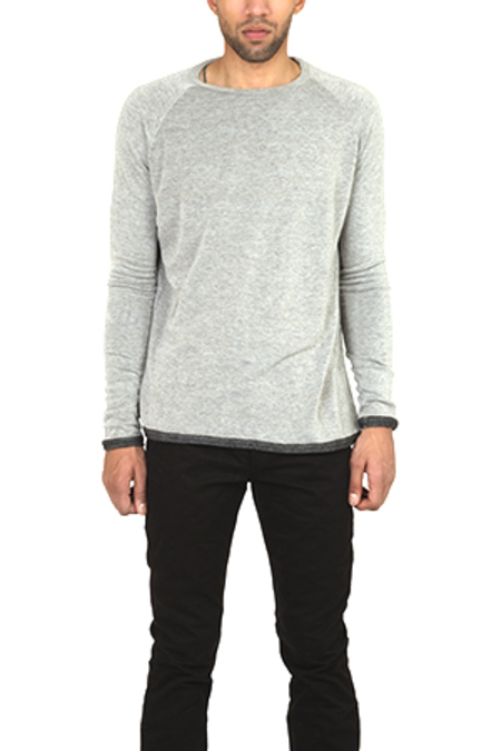 V::ROOM Gauze Shirt - Charcoal Grey