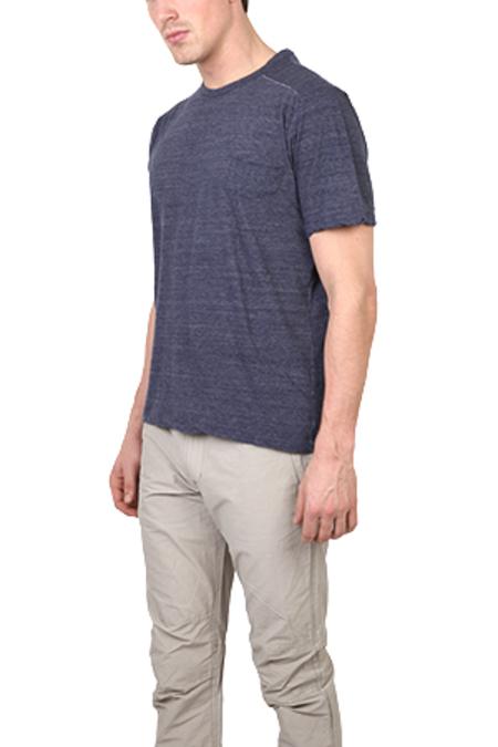 V::ROOM Melange Crew Tee Shirt - Navy