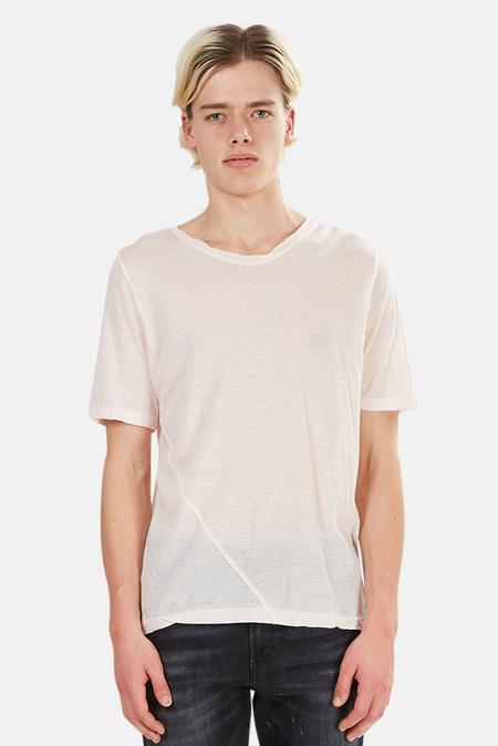V::Room Gauze Twist Crewneck Tee Shirt - Orange