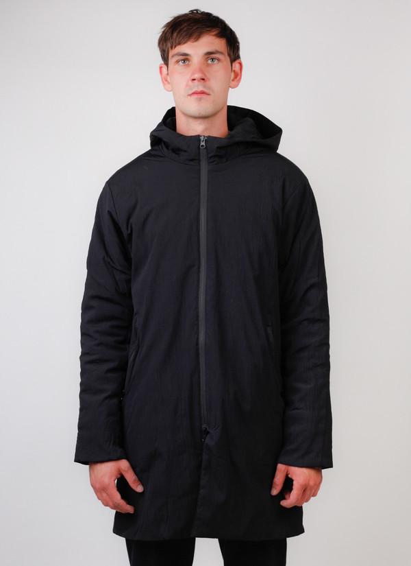 Men's Reigning Champ Sideline Jacket Insulated Stretch Nylon Black
