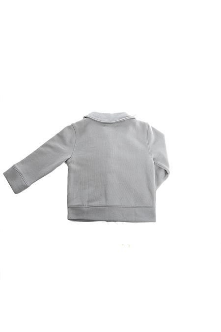 Kids Blue&Cream Shawl Collar Cardigan Top - Slate Grey