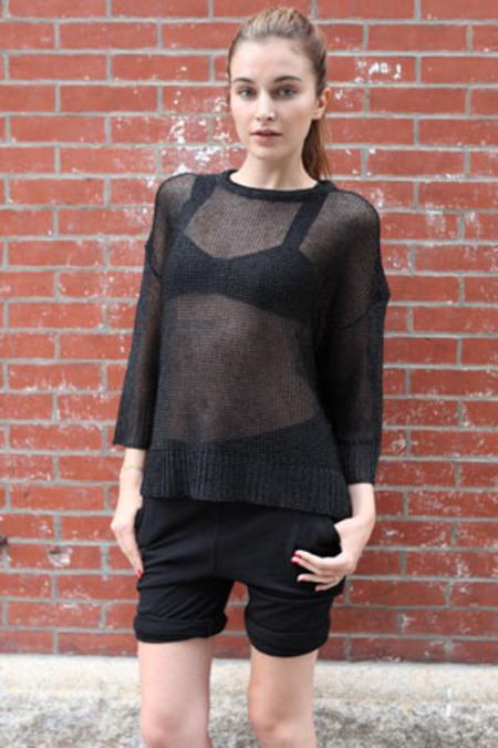 Alexander Wang Chainmail Sweater - Shiny Black