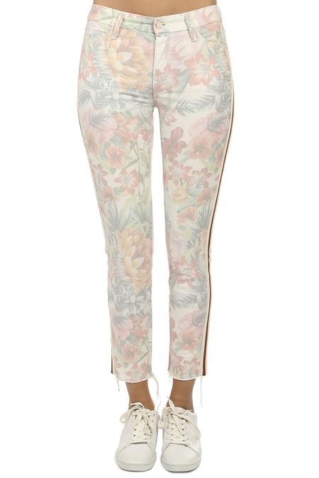 Mother Denim The Looker Ankle Fray Jeans - So Far Gone Floral Racer