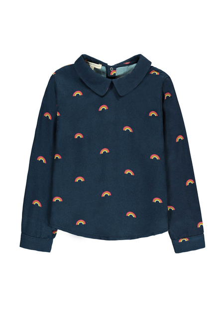 kids Hundred Pieces Rainbow Blouse - Navy