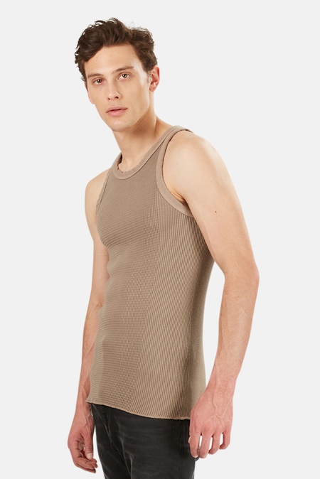 V::Room Knit Tank Top - Taupe Grey