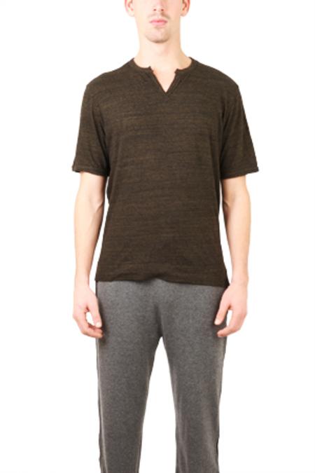 V::Room Melange Slit T-Shirt - Black
