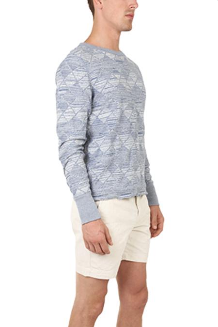 V::Room Herringbone Sweater - Navy