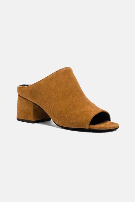 3.1 Phillip Lim Cube Open Toe Slip On Shoes - Oak
