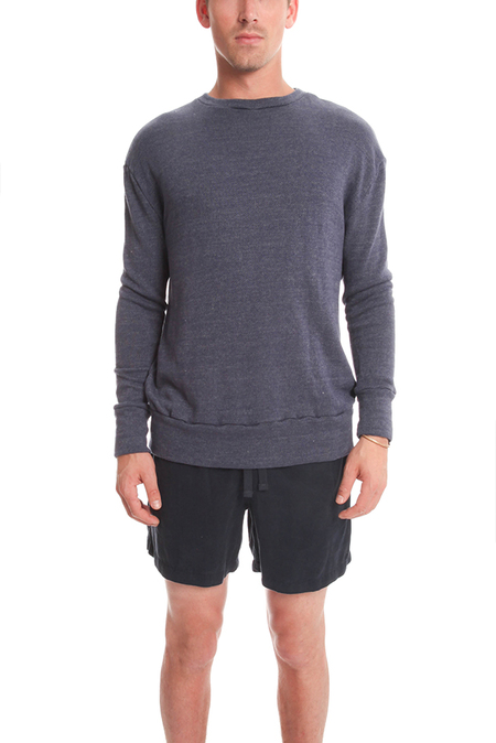 V::Room Highsoft Crewneck LS Sweater - Denim
