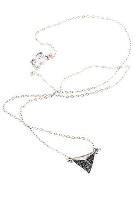 Cartography Zoars Black Diamond Shark Tooth Nacklace - Silver/Black