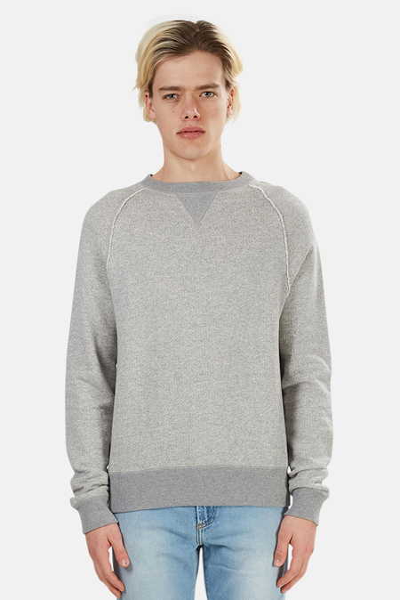 V::Room Jacquard Fleece Crewneck Sweater - Grey