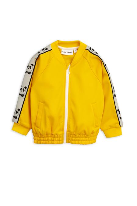 Kids Mini Rodini Panda Track Jacket - Yellow