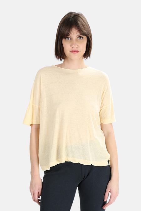 V::Room High Soft Melange T-Shirt - Natural Cream
