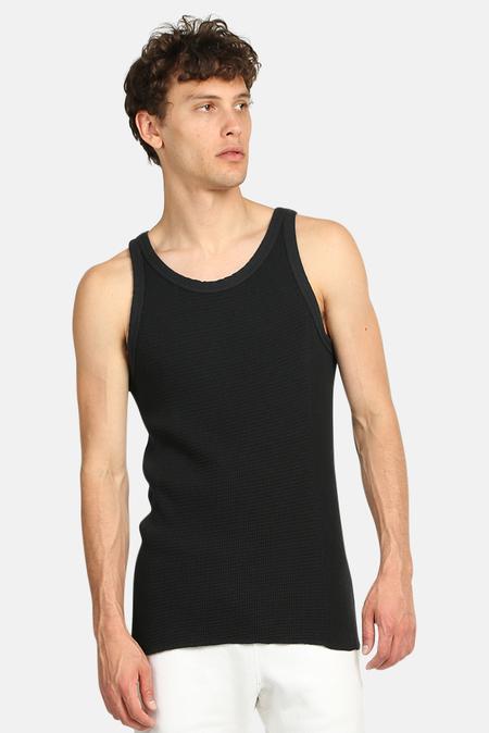 V::Room Waffle Knit Tank Top - Black