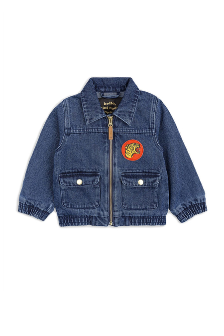 Kids Mini Rodini Denim Tiger Jacket - Blue
