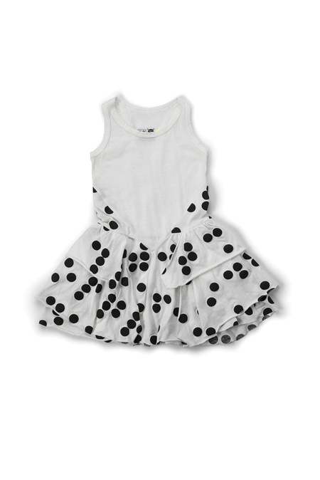 Nununu Braille Layered Dress - White