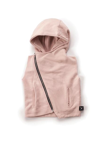 Kids Nununu Hooded Diagonal Vest - Pink