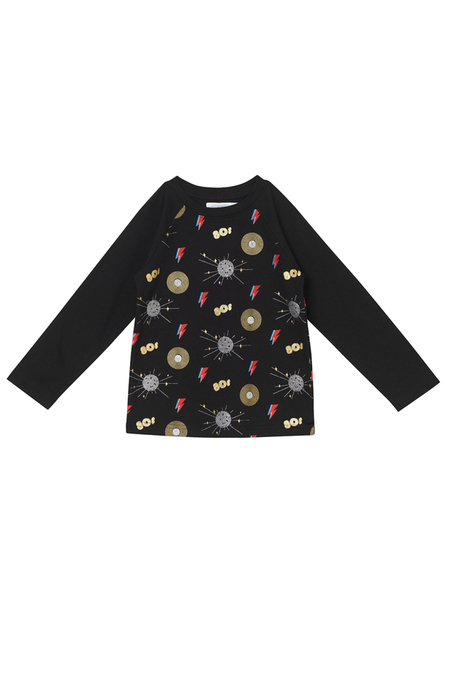 Kids Oaks of Acorn Disco Party Jackson T-Shirt - Black