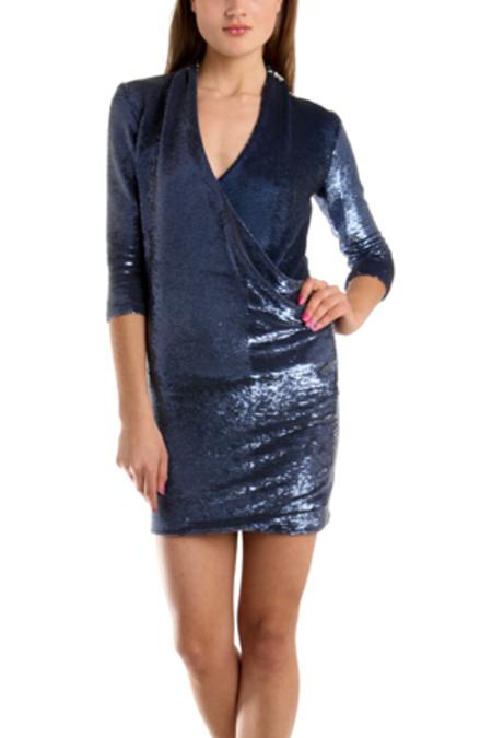 IRO Baly Sequin Dress - Metallic Blue