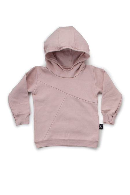 Kids Nununu Puffy Numbered Hoodie Top - Pink