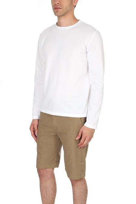 Blue&Cream LS Pique T Shirt - White