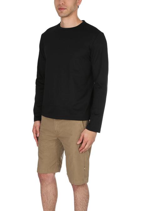 Blue&Cream LS Pique T Shirt - Black