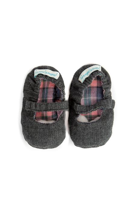 Kids Poeme & Poesie Reversible MJ Shoes - Pink Plaid