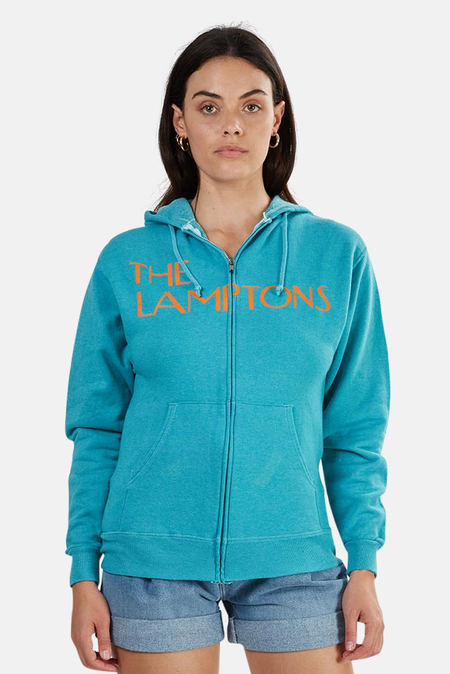 Blue&Cream Lamptons Miami Vice Hoody Sweater - teal/Orange