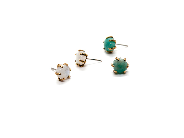 Laurel Hill Jewelry Io Studs // Amazonite