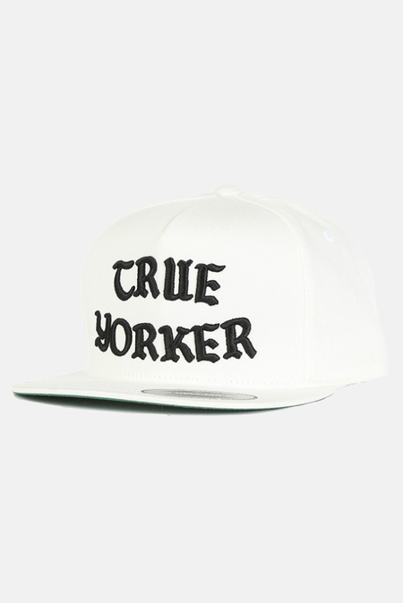 Blue&Cream True Yorker Snapback Hat - White/Black