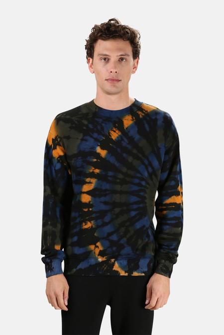 Cotton Citizen Bronx Crew Sweatshirt Sweater - Deep Sea Vortex