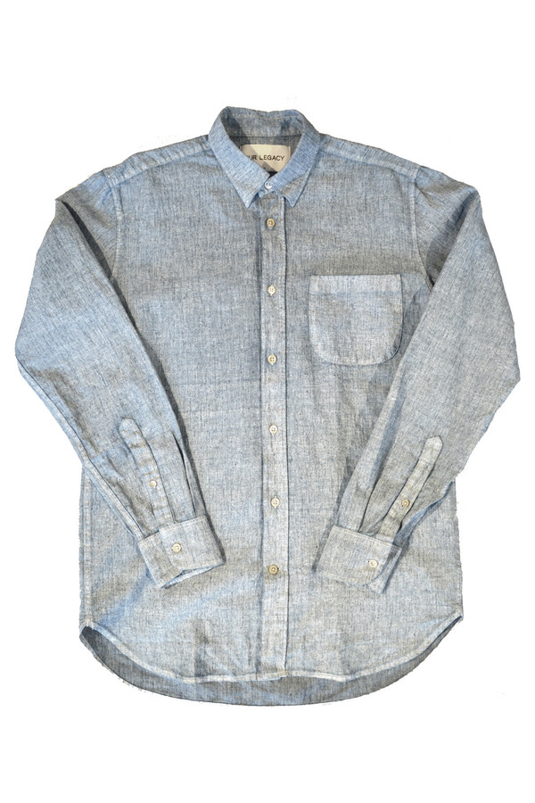 Men's OUR LEGACY - Generation Coated white Chambray Shirt