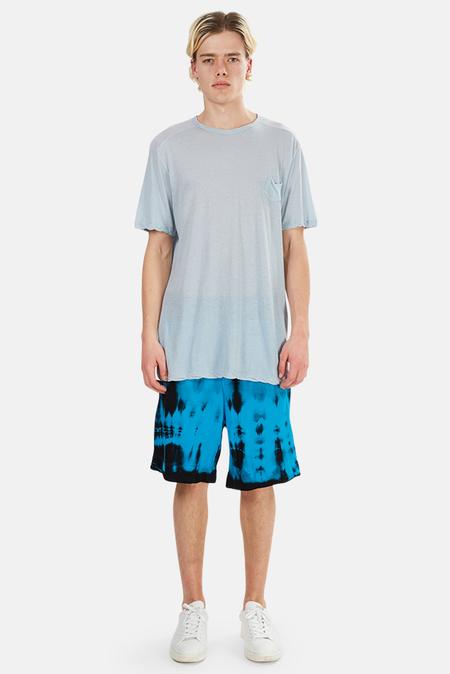 Cotton Citizen Jackson Short - Dark Aqua Tie Dye