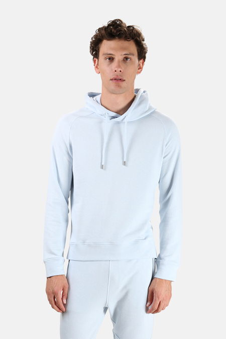 Wheelers.V Mason Pullover Hoodie Sweater - Baby Blue