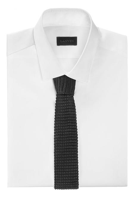 Lanvin Square End Tie - Black