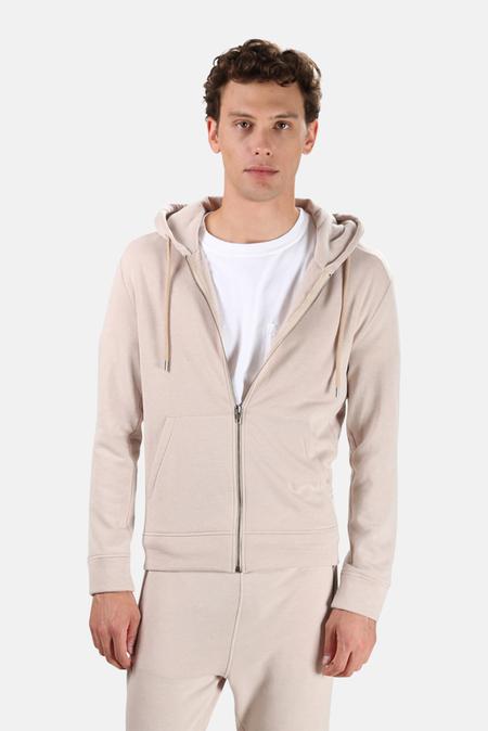 Wheelers.V Jones Zip Hoodie Sweater - Oatmeal